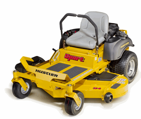 Used hustler zero turn mowers man, this